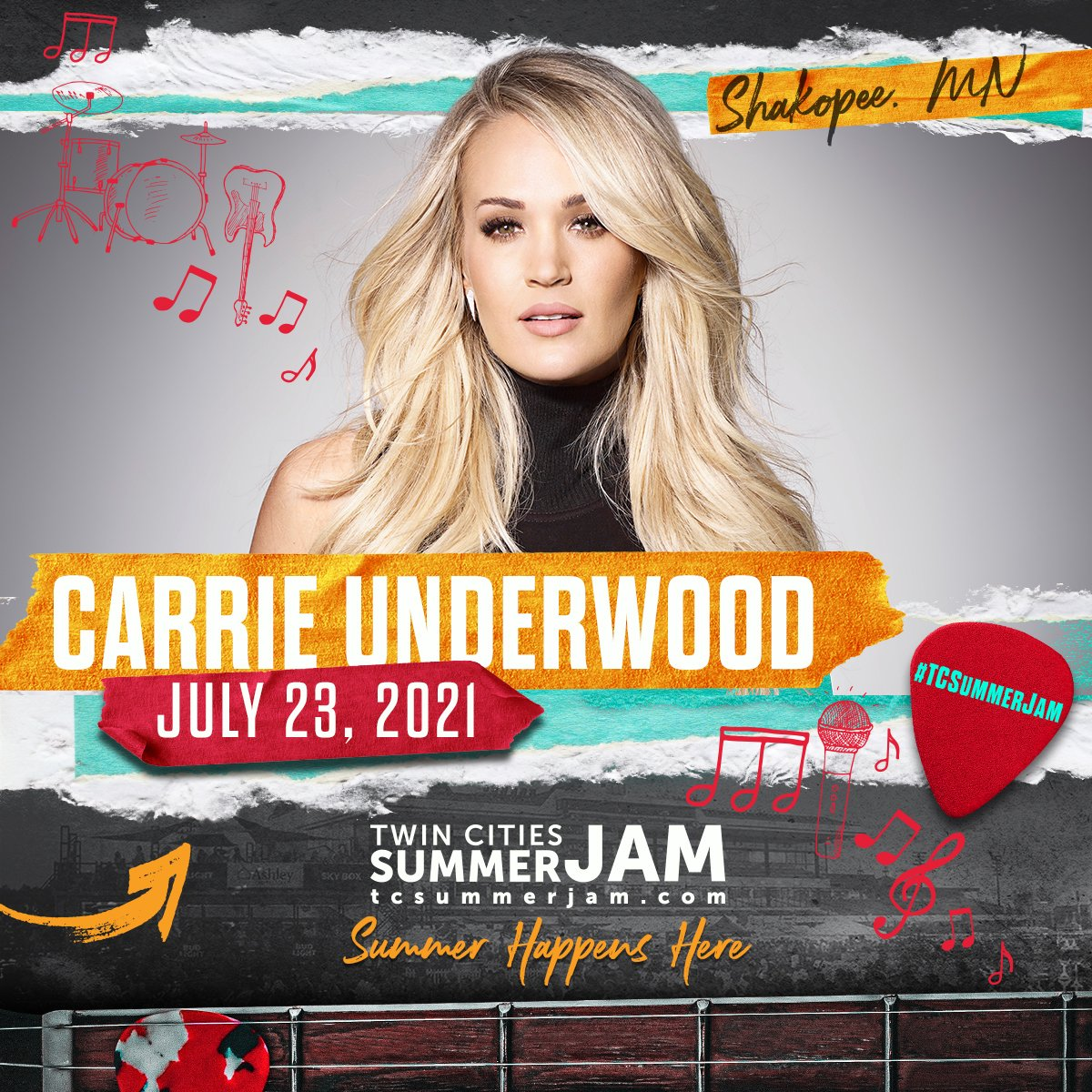 Looking forward to performing at @TCSummerJam in Shakopee, MN this Friday! https://t.co/8YXPLEc7S6 https://t.co/ezNCjjGJ44