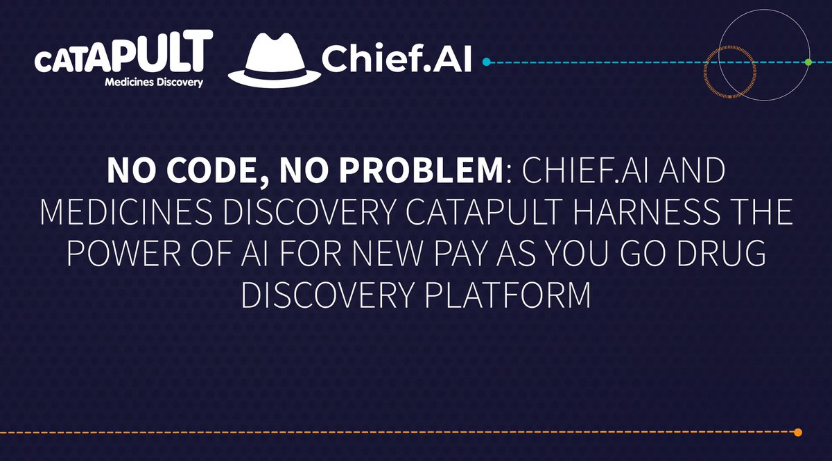 This #InnovateUKFunded project between @MedDiscCat and ChiefAI will utilise AI to industry advantage, resolving previous issues, reducing development times & saving billions of pounds in R&D.  Read how in the article below 👇  @innovateuk