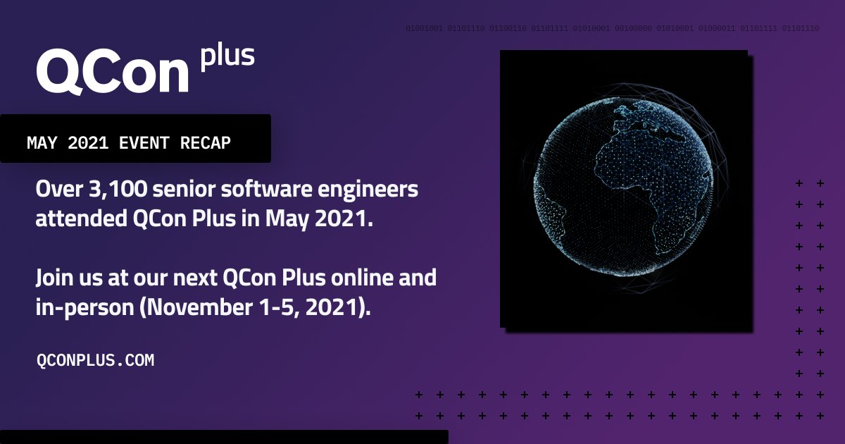 Over 3,000 senior software engineers and team leads attended #QConPlus in May 2021. Over 80 software leaders shared their practical insights and use cases to help attendees validate their technical roadmap. See the recap: bit.ly/3yMTVeZ #SoftwareConference #Technology