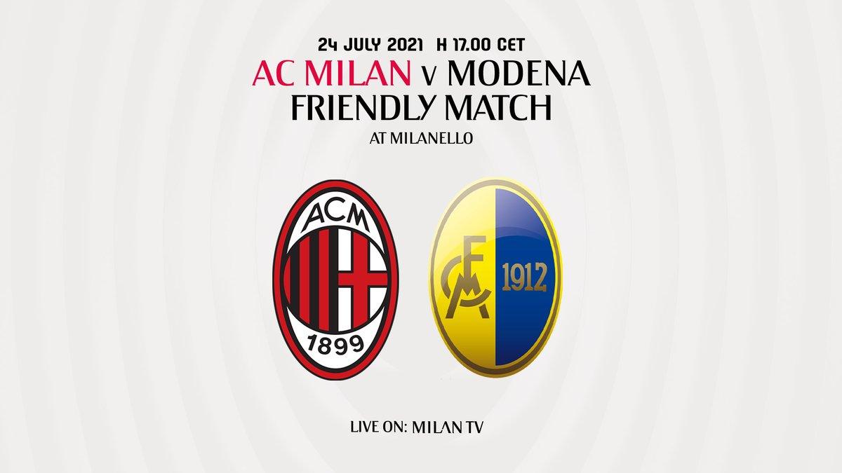 AC Milan vs Modena Highlights 24 July 2021