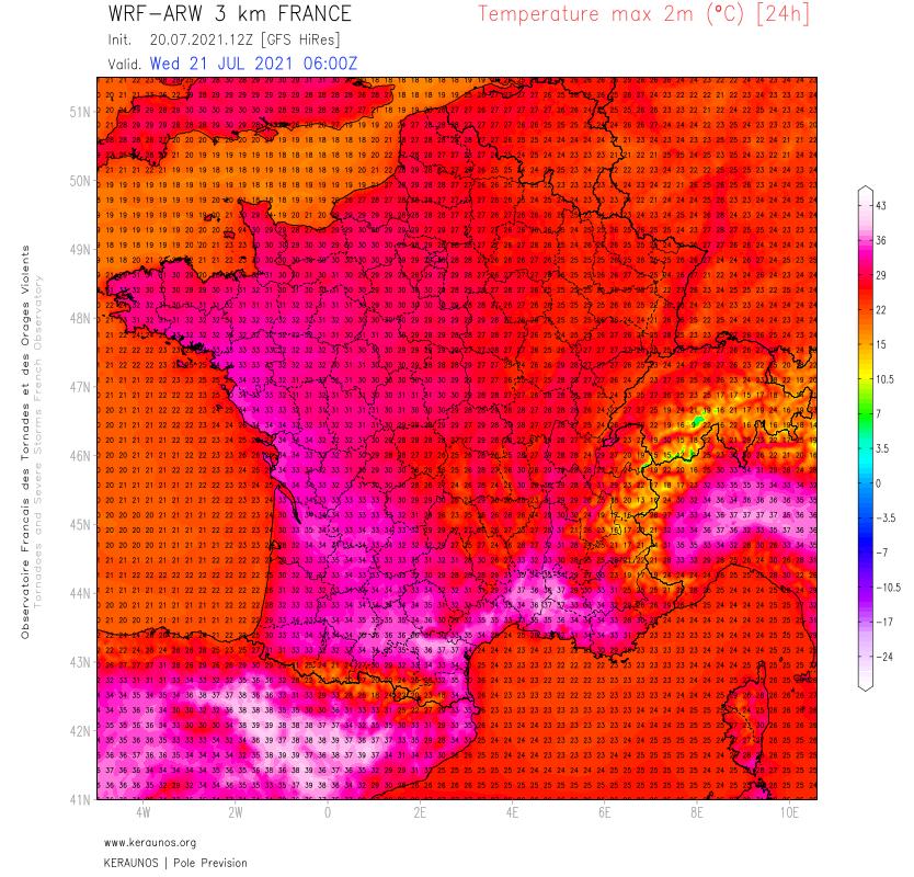 La chaleur s'accentue dans le sud-est demain mercredi avec des maximales de 35 à 37°C, localement 38°C dans l'intérieur de l'Aude ou du Gard par exemple.