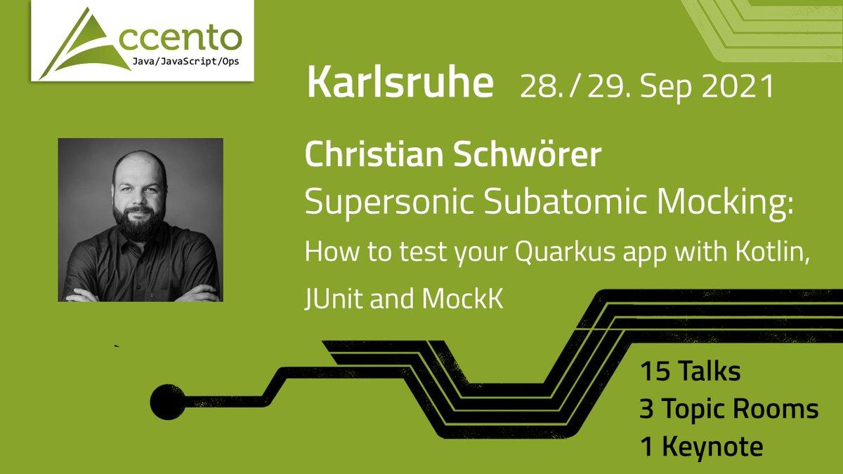 Quarks IO apps testen mit #Kotlin, #JUnit und #MockK: Auf der #Accento2021 teilt unser Speaker Christian Schwörer @csh_0711 seine Erfahrungen. Tickets für die Konferenz gibt's über https://t.co/8mty7ANnVy
