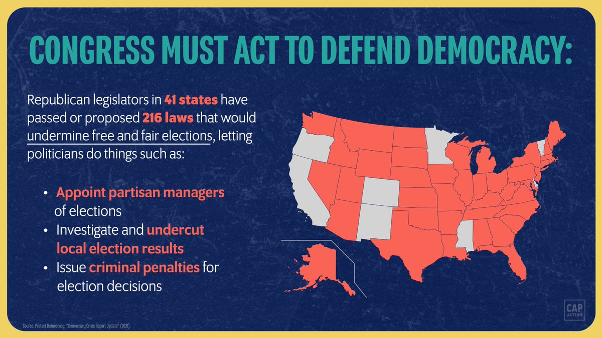These laws could have helped Donald Trump undermine the will of the people in 2020.  It's time for Congress to pass the For the People Act. https://t.co/H390aXsqX6