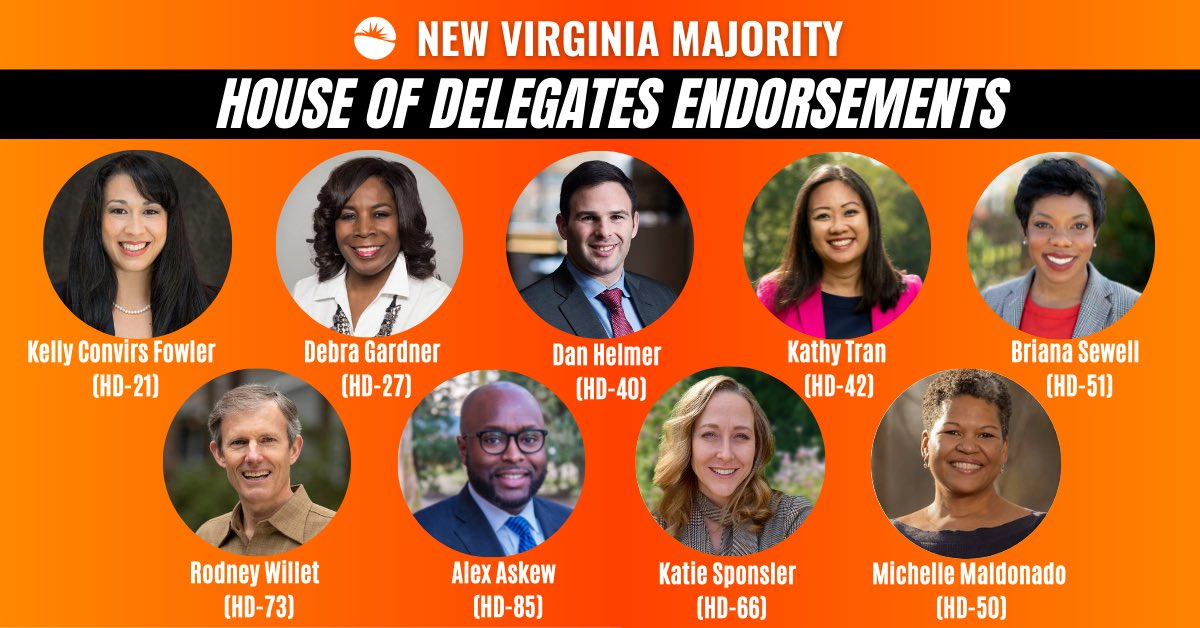 Thrilled to have the support of @NewVAMajority and honored to be endorsed with such a remarkable group of candidates. I look forward to working together this year! https://t.co/nWWJQPgr41