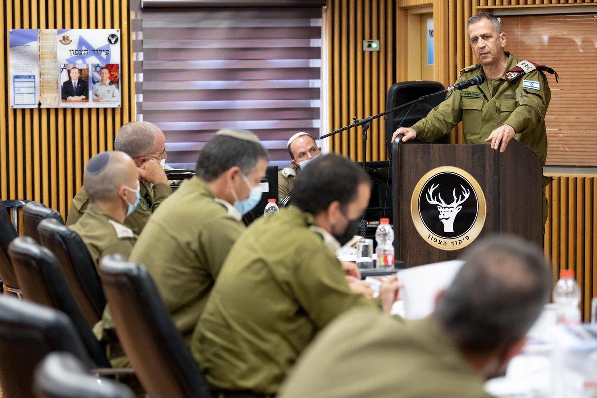 عاجل تفقد رئيس الأركان العامة الجنرال أفيف كوخافي جاهزية القوات البرية للحرب على جبهة لبنان