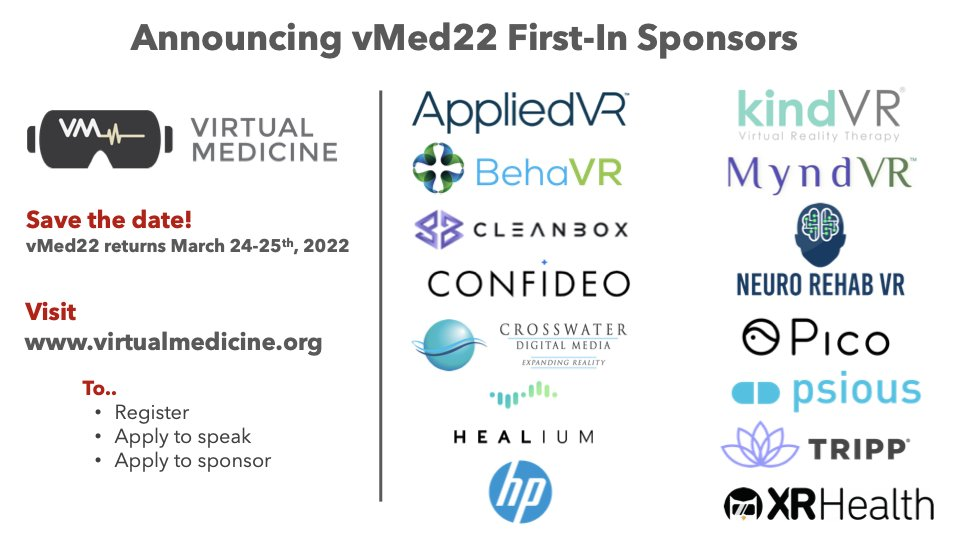 Woohoo nothing beats the energy of the vMed community getting together! After this last 17 months it's a much needed boost to the field.