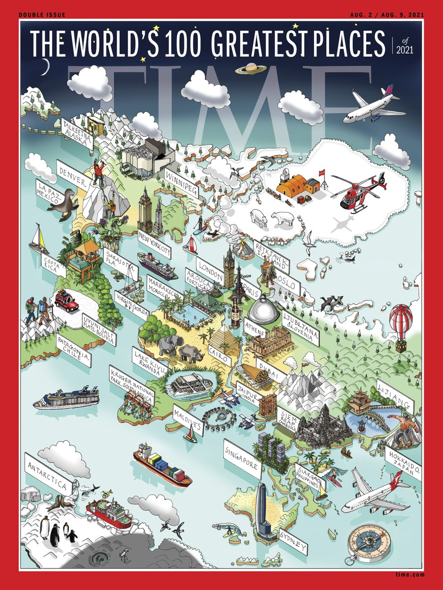 Read about this week's @TIME cover on the World's 100 Greatest Places by mapmaker Katherine Baxter, a London-based artist who spent four weeks illustrating 31 places. https://t.co/YBOBFBLoae. Is your favorite on TIME's annual list: https://t.co/cvRgEr9NYD https://t.co/XmKcahNBMi