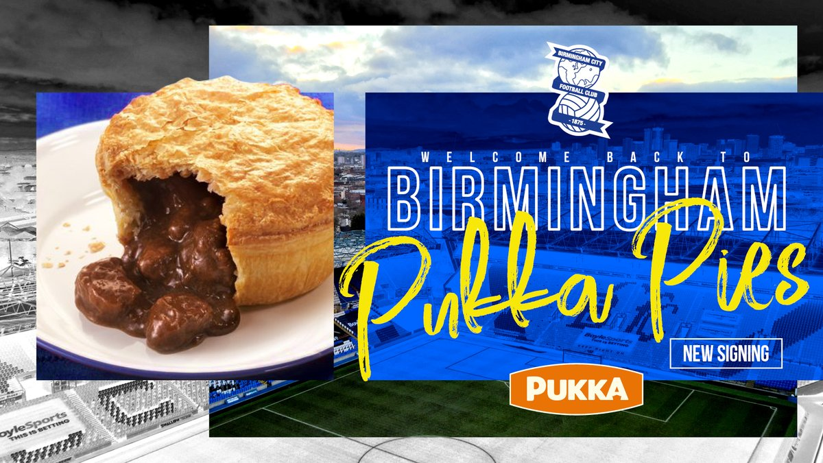 And there we have it, #BCFC announcing pies!