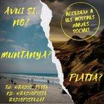 Image for the Tweet beginning: Pregunta: platja o muntanya?  Ens trobareu