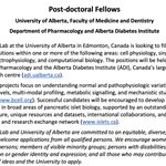 Image for the Tweet beginning: We have two postdoc positions