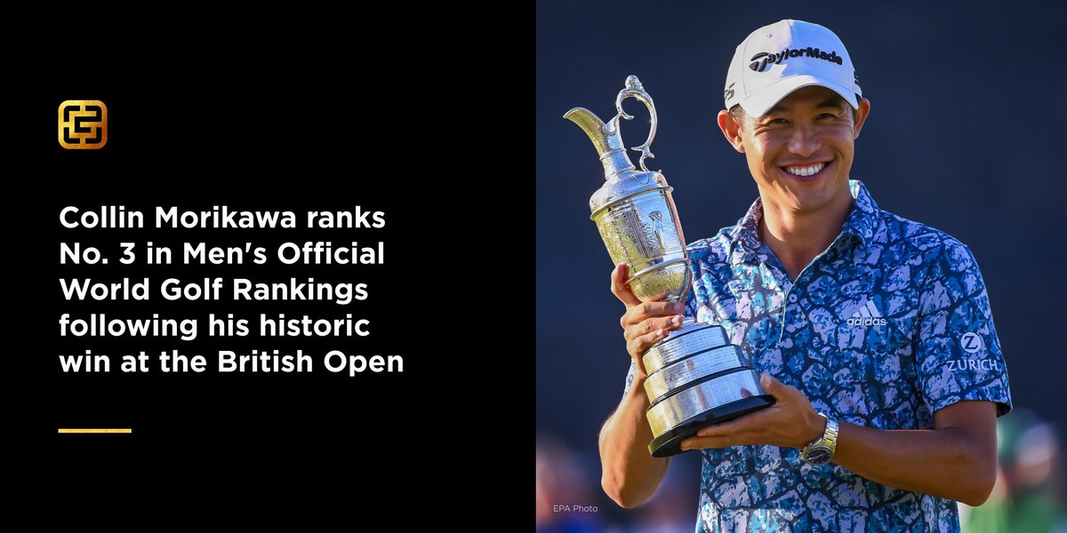 Champion Golfer of the Year 🏆🏌️♂️   @collin_morikawa's win at #TheOpen has launched him to No. 1 in the FedEx Cup Rankings and No. 3 in the world. He's now the first golfer to win his debut in two different majors: the PGA & The Open.  #GoldMedal #GoldExcellence #AsianExcellence https://t.co/KJMkeF4OPn
