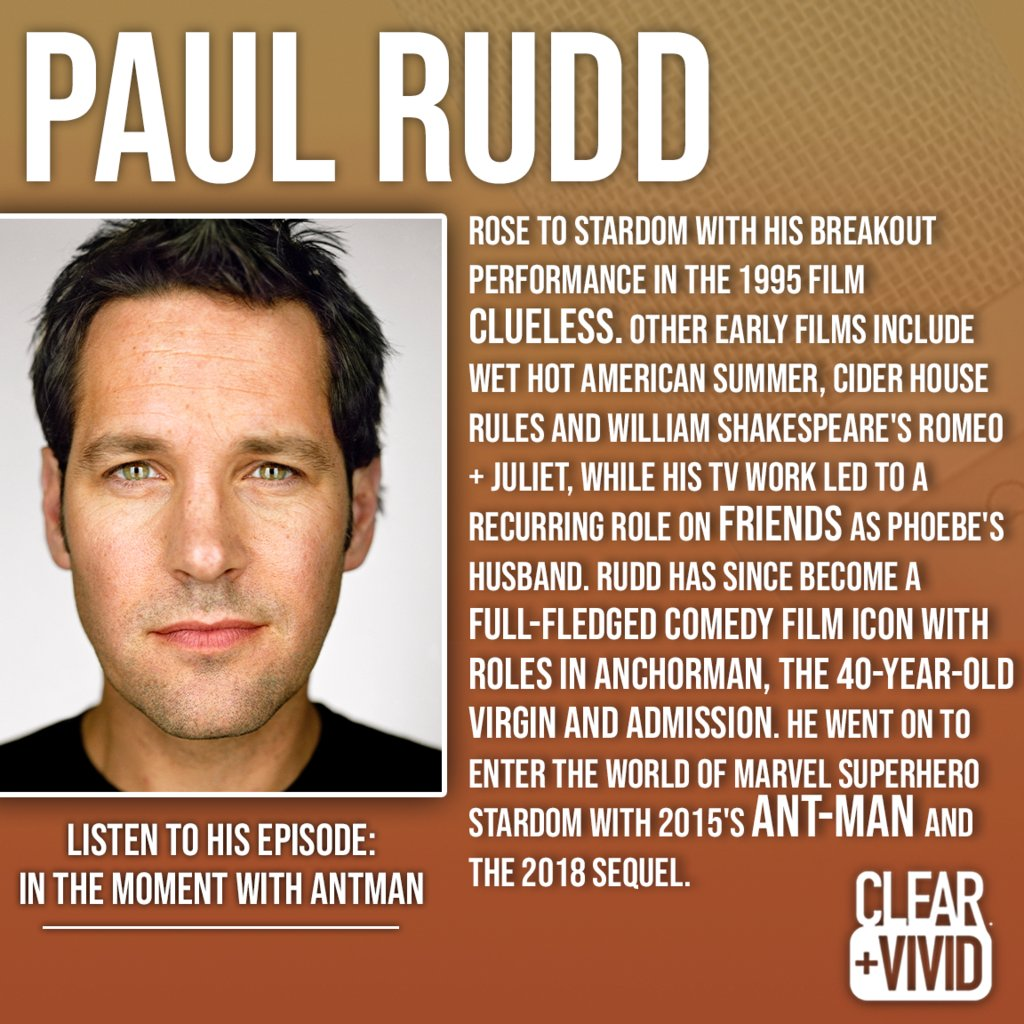 Such a pleasure to listen to Alan Alda and Paul Rudd 👇