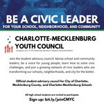 Image for the Tweet beginning: Student leaders in @MeckCounty districts