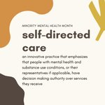 Image for the Tweet beginning: ✨Self-directed Care ✨   #StrengthInCommunities #BIPOCMentalHealthMonth #BIPOCMHM #BIPOCMHM21