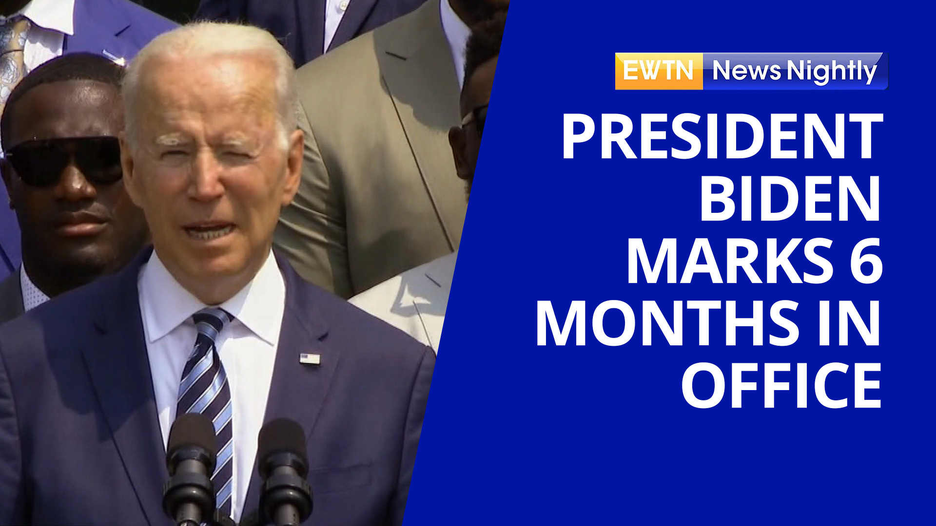 """EWTN News Nightly on Twitter: """"Today marks the first six months of President Joe Biden's presidency. And the @SBAList is calling the Biden administration """"the most extreme pro-abortion administration"""" in the nation's"""