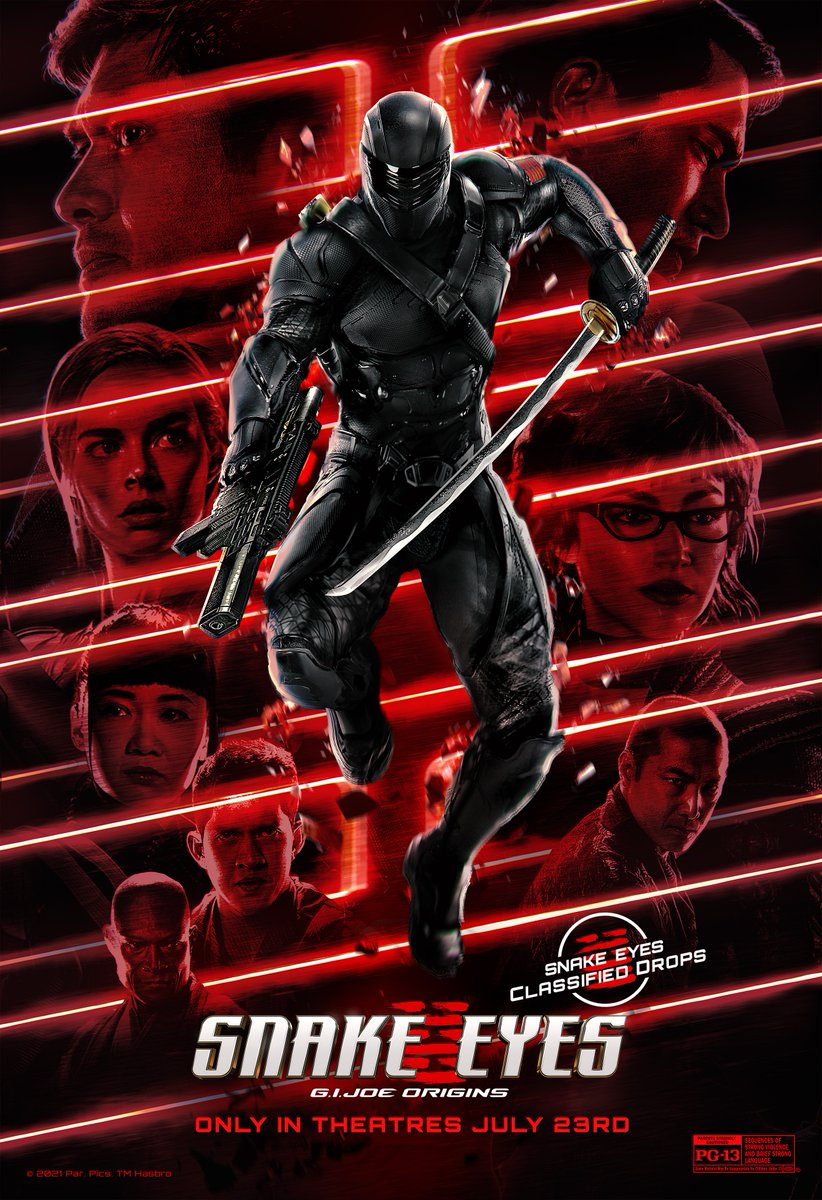 @goldhouseco Coming in with another #SnakeEyes 🚨 #ClassifiedDrops Alert 🚨! Check out this poster from the one and only @BossLogic!   Make sure to get your tickets and see #SnakeEyes only in theatres FRIDAY! https://t.co/dOCpw0uJot  Reply #unsubscribe to opt-out. https://t.co/Js453n4FzF