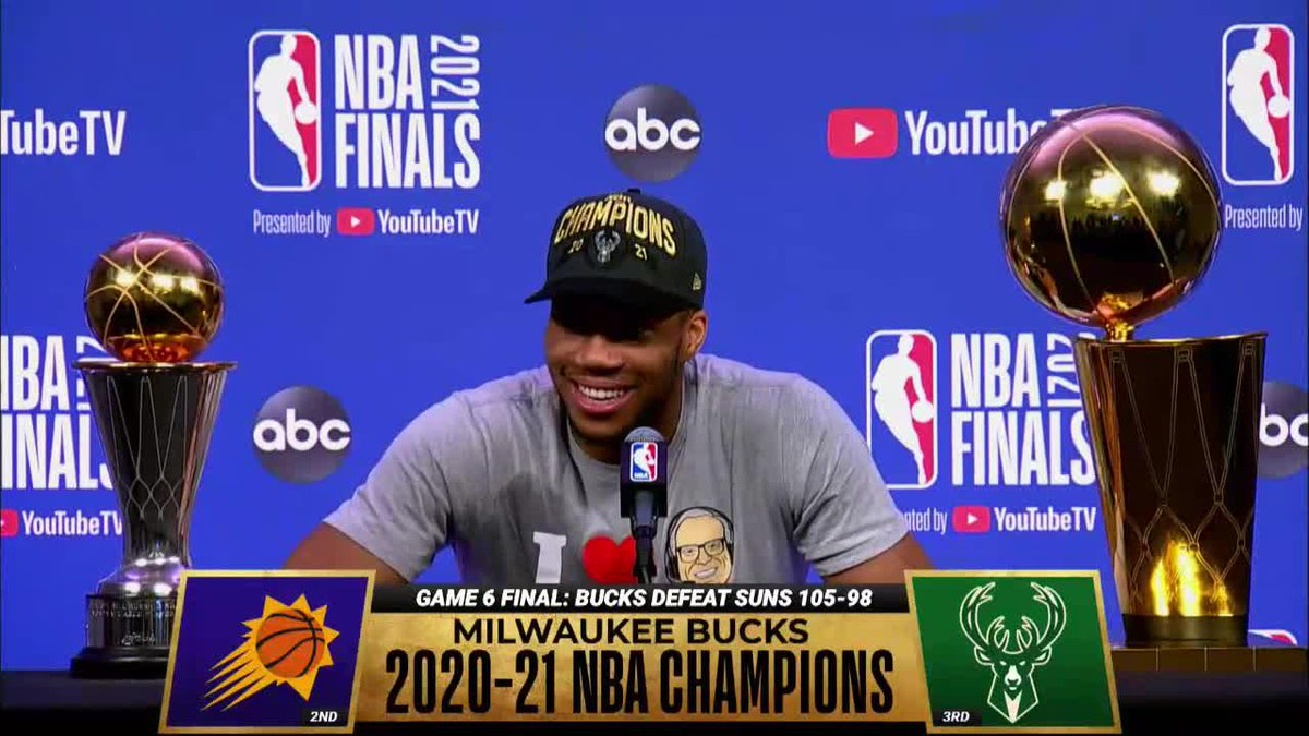 """""""I want a trade."""" Giannis 😂 https://t.co/dYgNwUqNUH"""