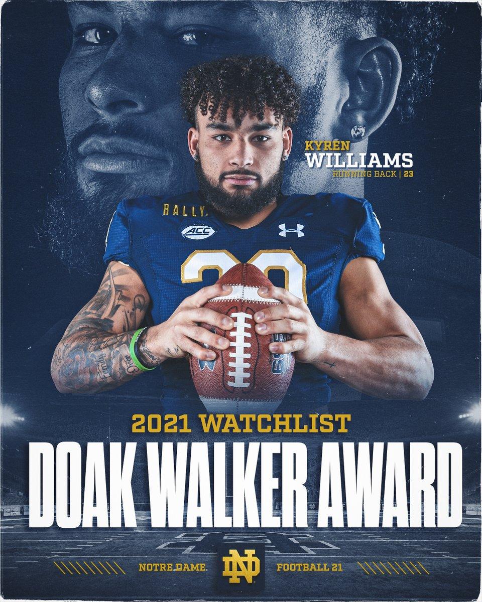 @NDFootball's photo on Doak Walker Award