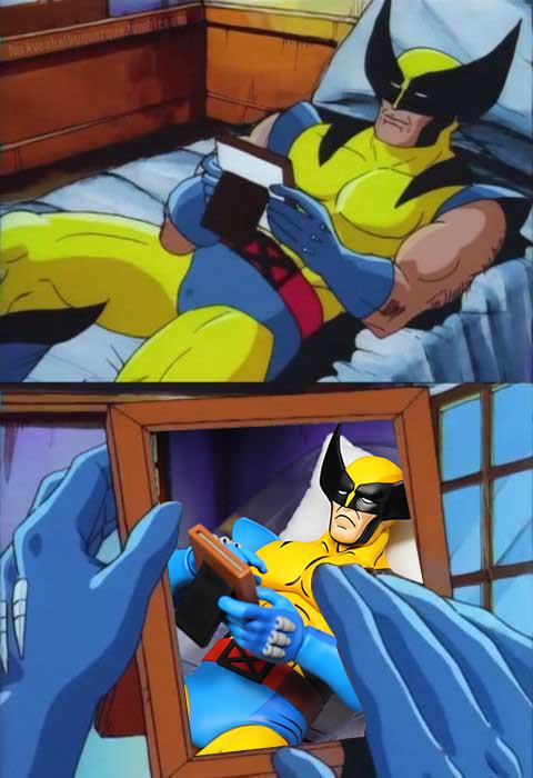 wolverine sad meme figure collection comic-con 2021