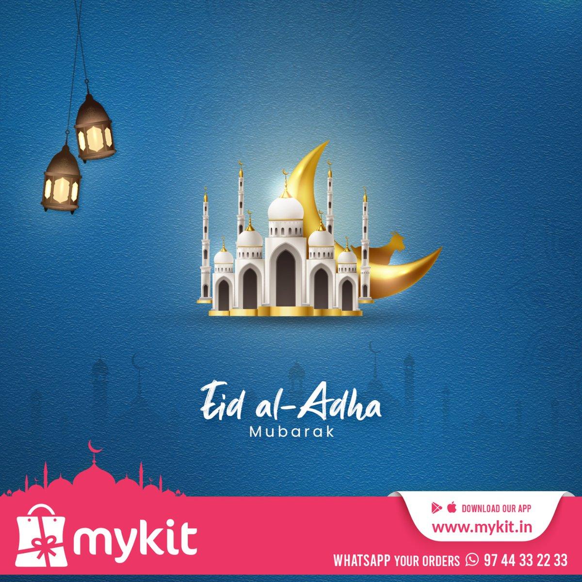 Eid al-Adha Mubarak  #eidmubarak #eid #eidaladhamubarak #happyeid #eidwishes #mykit #kannur https://t.co/hSVpEdMD45