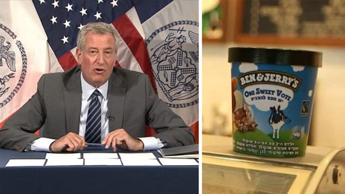 Mayor de Blasio says he'll boycott Ben & Jerry's over Israel stance https://t.co/aS06Z0RBm1 https://t.co/Ez9TULIU5y