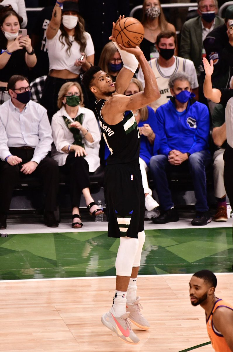 PHOTOS: Nigerian-born Giannis Antetokounmpo Powers Team To First NBA Win In 50 Years  Giannis Antetokounmpo, whose parents are Nigerians delivered a historic 50-point performance to lead Milwaukee Bucks to their first NBA title since 1971.
