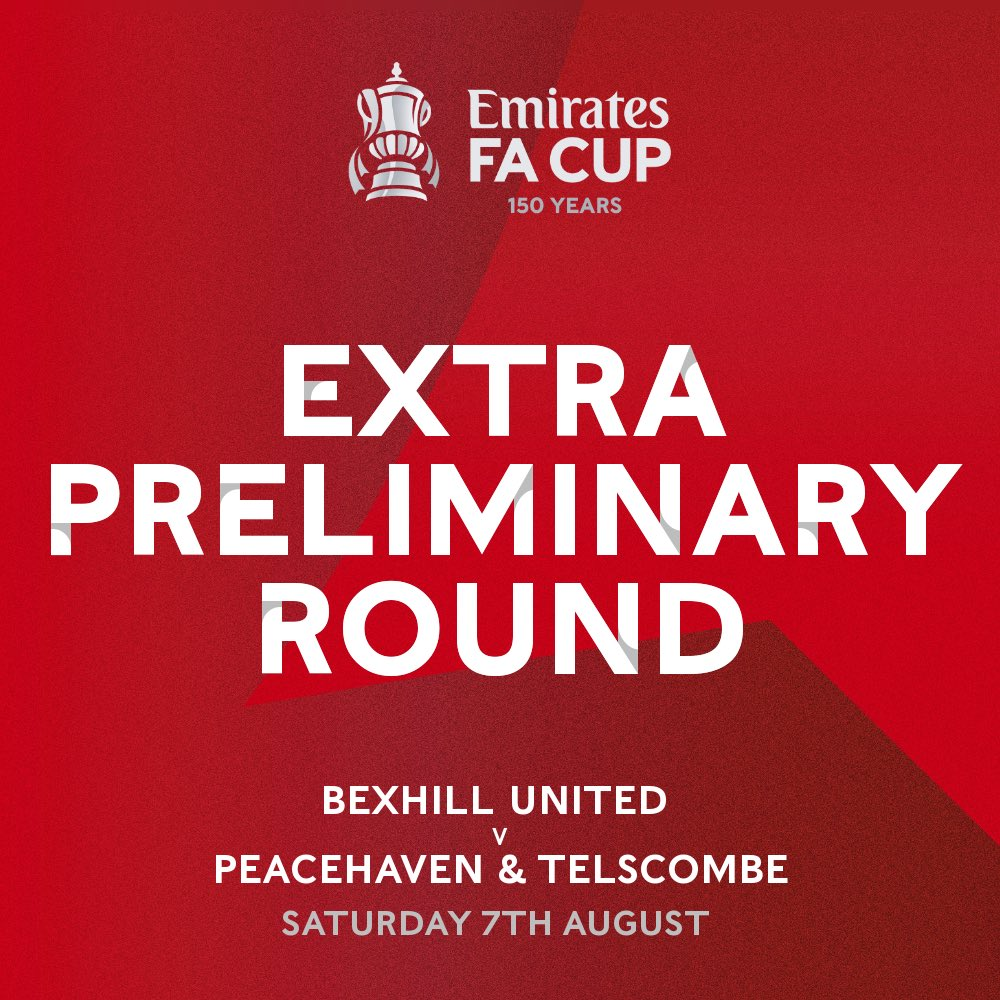 Free this Saturday?   Why not head to The TGS Pilot Field and give Bexhill United support in the FA Cup 💪