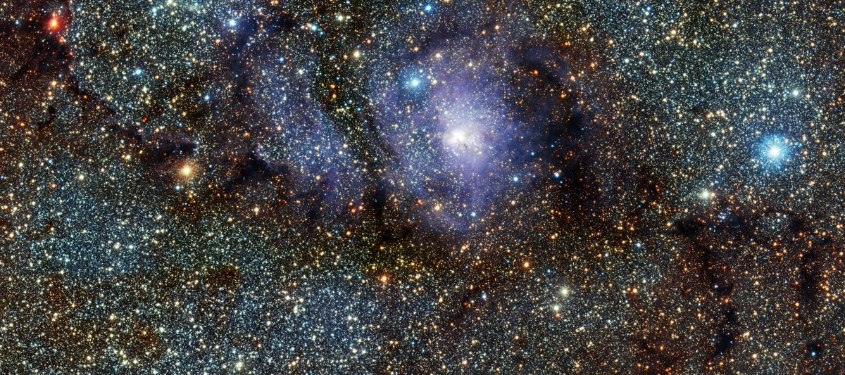 Stunning infrared view of the Lagoon Nebula   (Credit: ESO/VVV - Acknowledgment: Cambridge Astronomical Survey Unit)