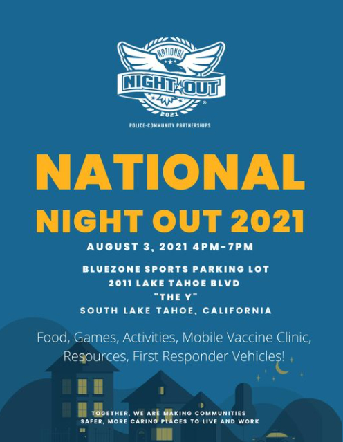 The free Mobile COVID-19 Vaccine Clinic will be out at the National Night Out event, tonight in the Blue Zone parking lot at the Y. Both Pfizer and J&J will be offered.