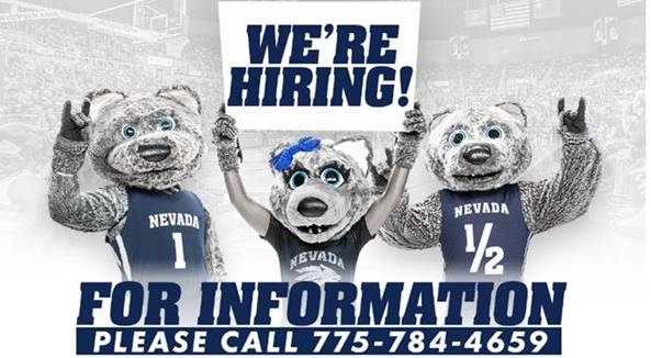 Are you looking for a part-time job on campus? @NevadaWolfPack is now hiring for a variety of positions!