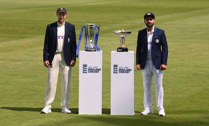 भारत और इंग्लैंड के बीच पांच टेस्ट मैचों की क्रिकेट श्रृंखला का पहला मैच आज