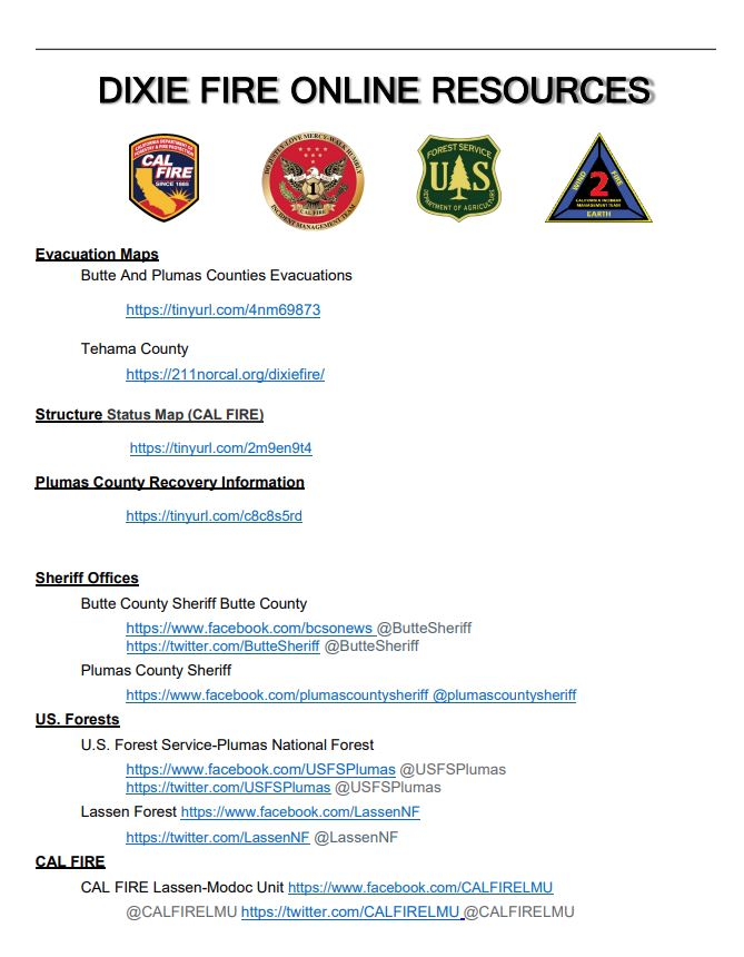 Image posted in Tweet made by CAL FIRE on August 3, 2021, 2:58 pm UTC