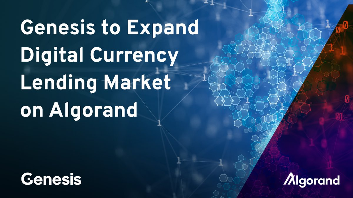 Today, @GenesisTrading announced support for the ALGO and $USDC on Algorand! This new offering will expand opportunities across the Algorand #DeFi ecosystem by supporting borrowing, lending and use of these assets as collateral 👉 http://algo.me/vAbC50FJpv7