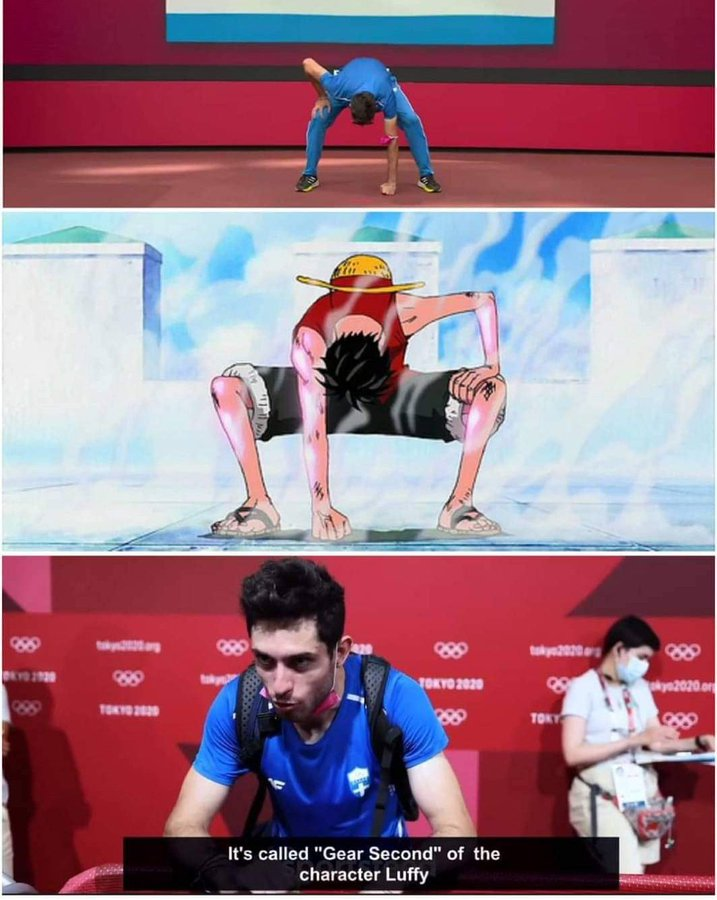 Long jumper poses as Luffy