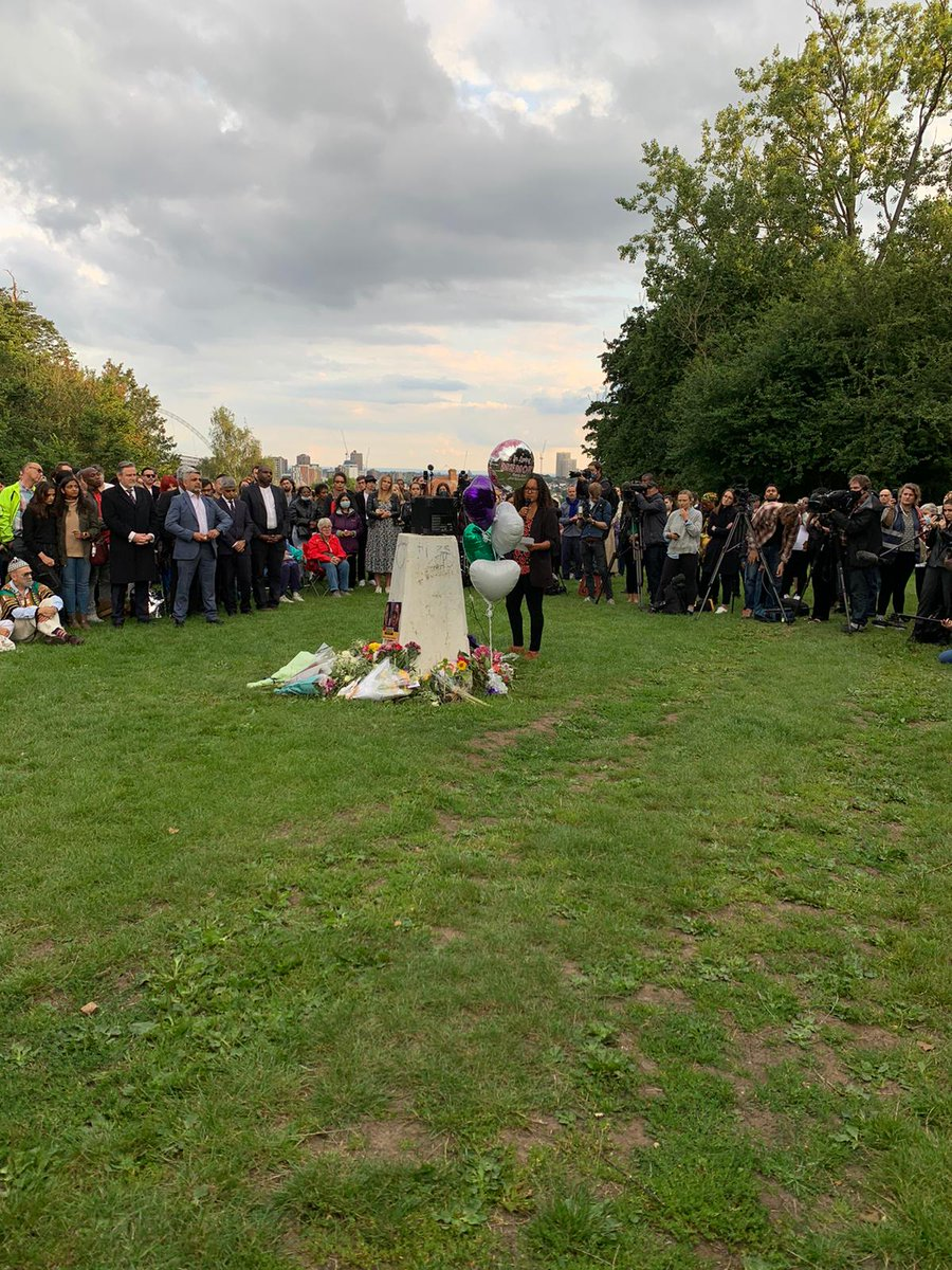 Our hearts ache this evening as we stand in solidarity with the hundreds of people who have gathered to light a candle to remember Bibaa Henry & Nicole Smallman, and to unite against male violence and racism. We will rise.