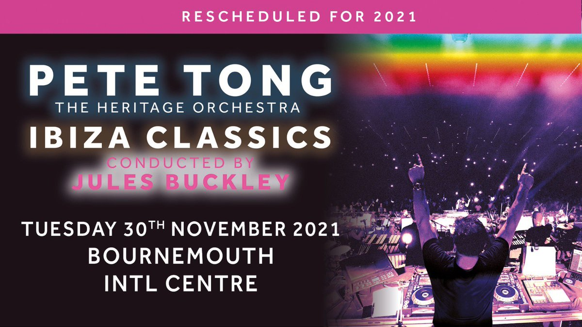Bournemouth just added to the Ibiza Classics November tour... Tickets go on sale this Friday at 9am here: gigst.rs/PT Don't miss out! @petetong @julesbuckley @HeritageOrc @BournemouthIC