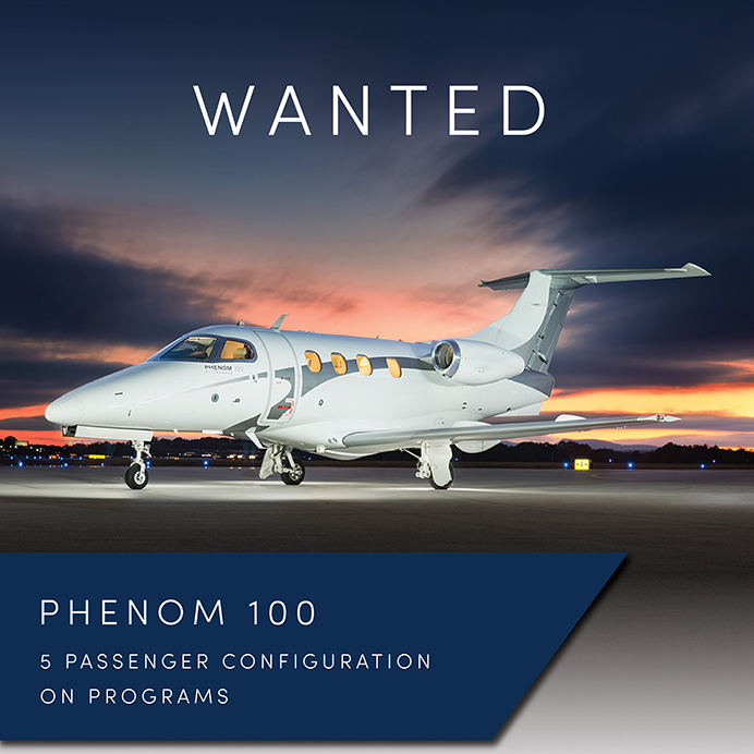 #aircraftwanted - #Phenom 100 at @OGARAJETS  5 passenger configuration On programs Contact them at: https://t.co/7nDLgdECbt  #bizjet #bizav #aircraftforsale #privatejet #privateflying #jetforsale #businessaviation