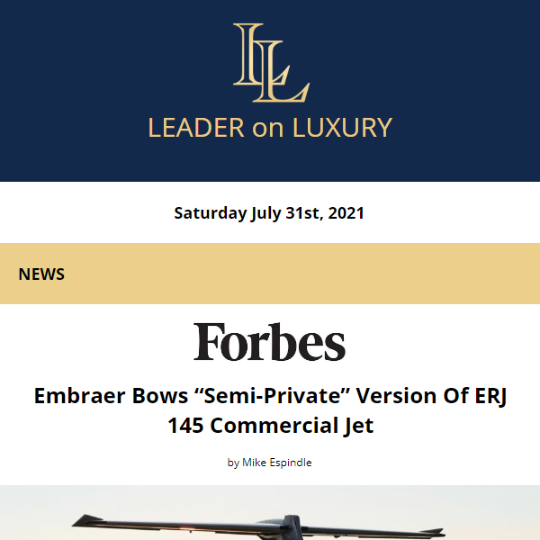The latest from your Leader on Luxury is now available. Full newsletter at https://t.co/vnakViFwSB    Read the latest news, learn about upcoming events and our featured #aircraftforsale #yachtforsale listings! #bizav #leaderluxury #luxurytravel #luxurylifestyle #privatejet