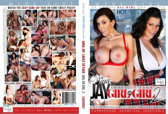 "📀 ""SARA JAY LOVES TO FUCK GIRL ON GIRL 2""  It's got @angelinacastrox @1avadevine, Zoe Holiday, Jessica"