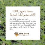 Not all CBD is created equal. Our CBD is derived from industrial hemp organically grown without any harmful chemicals on our family farm in Colorado in full compliance with the 2018 Farm Bill. #cannabidiolextract #cannabidiol #hempoilextract #cbd https://t.co/g0NiD41hwd