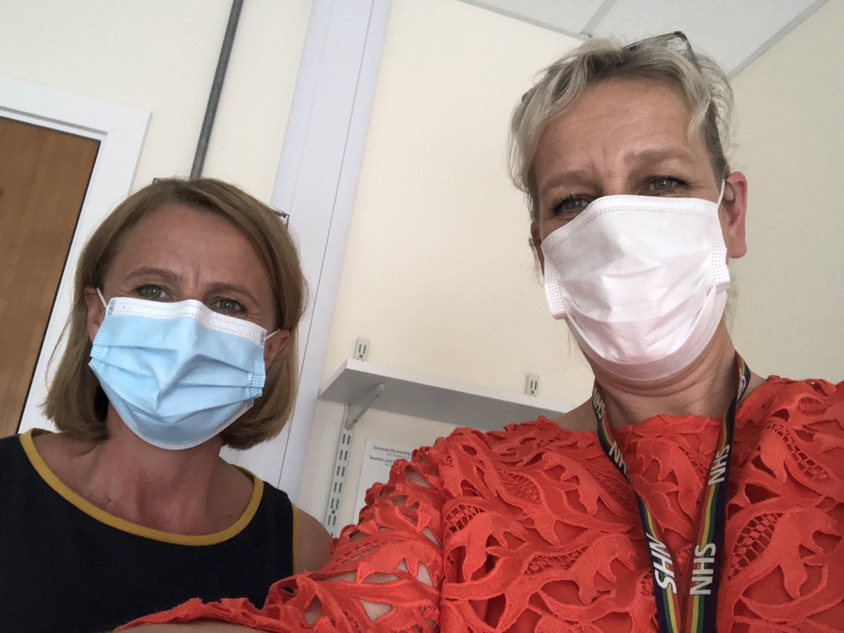 Caught up with @hayleypeters-some inspiring workforce redesign happening @SomersetFT across professions & sectors. Good to see @PeterLewis45 & to talk together with @clements_isobel about all things #OurNHSPeople #ICS #Recovery @Prerana_Issar @TomSimons_NHS