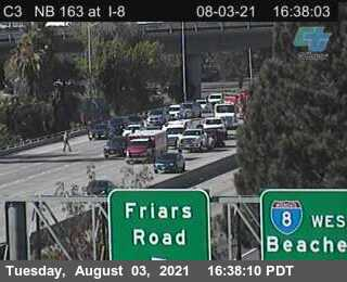 Image posted in Tweet made by Caltrans San Diego on August 3, 2021, 11:39 pm UTC