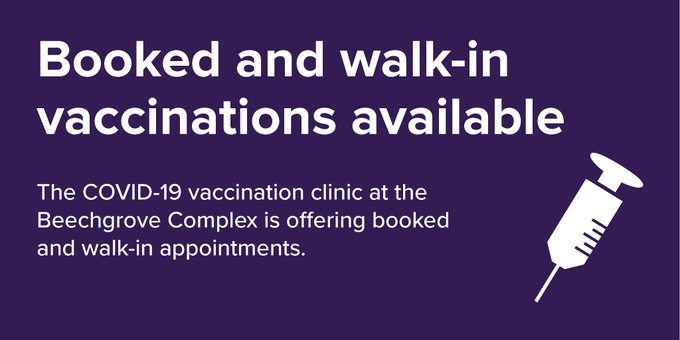 test Twitter Media - We're here for you 1-4 pm, Aug, 4, 5, 6! The Beechgrove Complex COVID vax clinic has LOADS of APPOINTMENTS for Pfizer vaccinations for people 12+. Walk in or book here: https://t.co/E6R4UuEP0G #ygk @KFLAPH @VaxHuntersCan @VaxHuntersON @queensu @MIHomeYGK @Move983 @cityofkingston https://t.co/kO7nqywsow