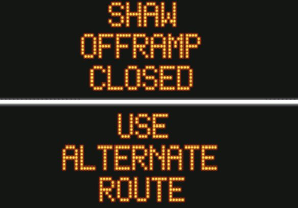All lanes are open and clear.