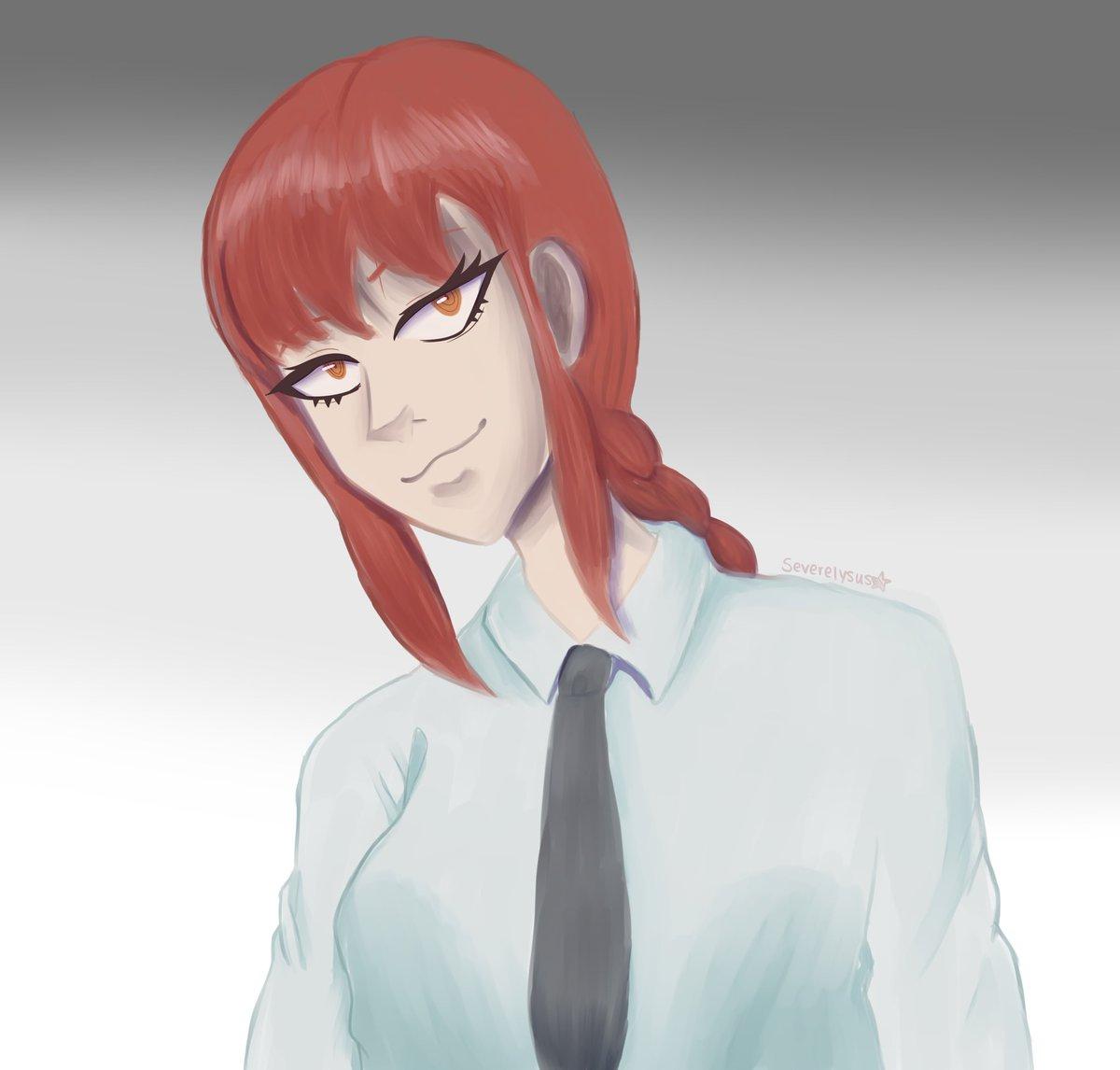Red head lady #makima #chainsawman #chainsawmanfanart