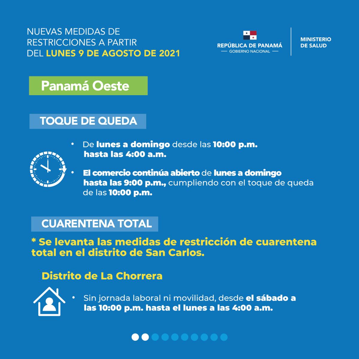 Ministerio De Salud De Panama On Twitter Nuevas Medidas Que Empezaran A Regir A Partir Del 9 De Agosto De 2021 Para La Contencion Del Covid19 En Nuestro Pais Parte 1 Protegetepanama