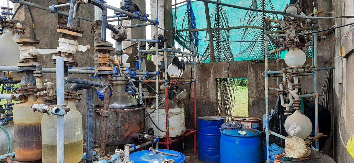 NCB Gujarat busts MD drug manufacturing unit in South Gujarat