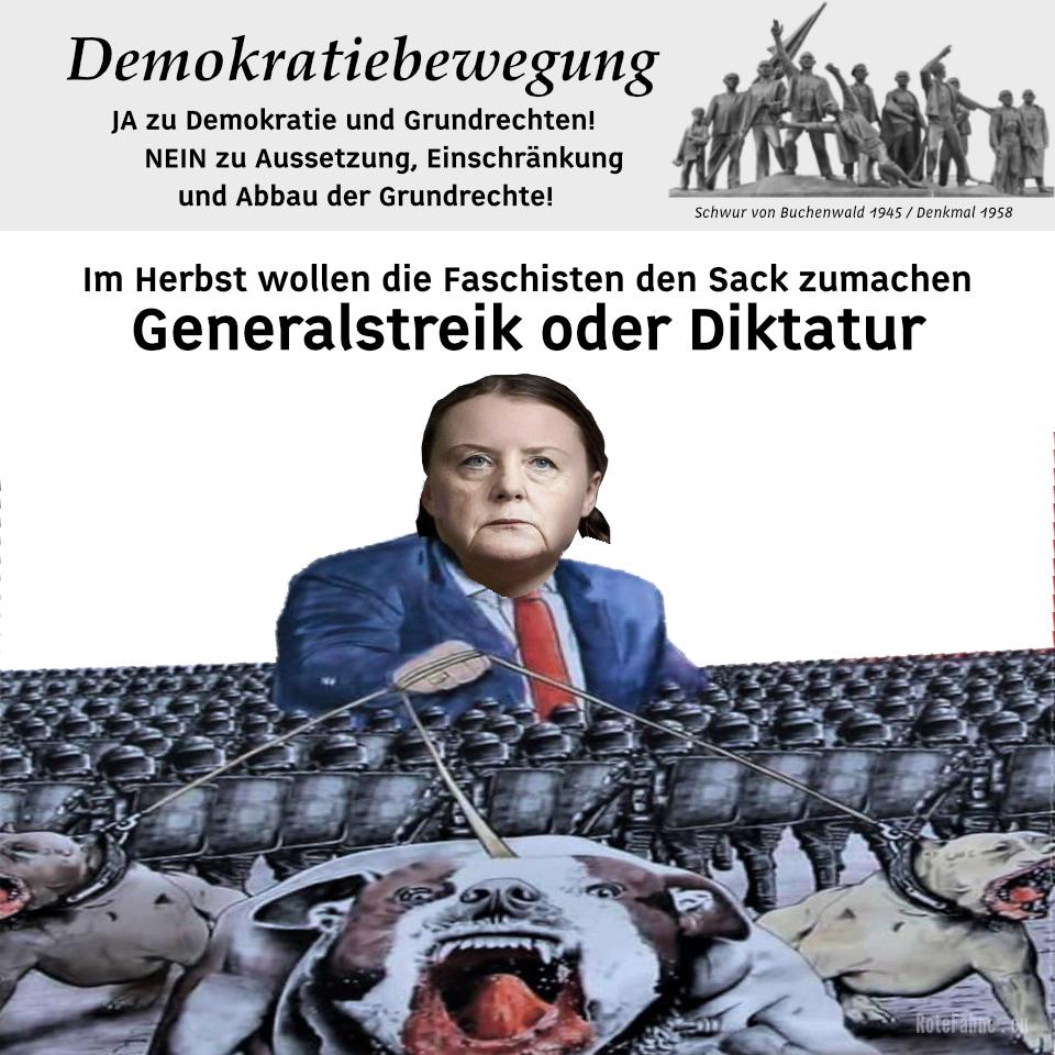 Im Herbst wollen die Faschisten den Sack zumachen - Generalstreik oder Diktatur