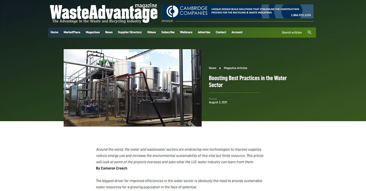 """test Twitter Media - HRS is featured in @WasteAdvantage on: """"Boosting Best Practices in the Water Sector"""". Read more: https://t.co/04c8DxzlKz #wastewater #heatexchangers #sustainability #resourcerecovery #evaporation https://t.co/vhQBHOmU4n"""