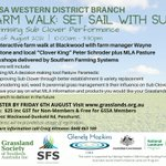 Fancy a paddock walk while learning how to manage sub-clover on your farm? Register ASAP for this @Grasslands_Org event - for catering and covid compliance. Farm walk supported by: @SouthernFS @GHCMA @AusLandcare @meatlivestock RSVP by August 6! https://t.co/7hw7jv4yDB